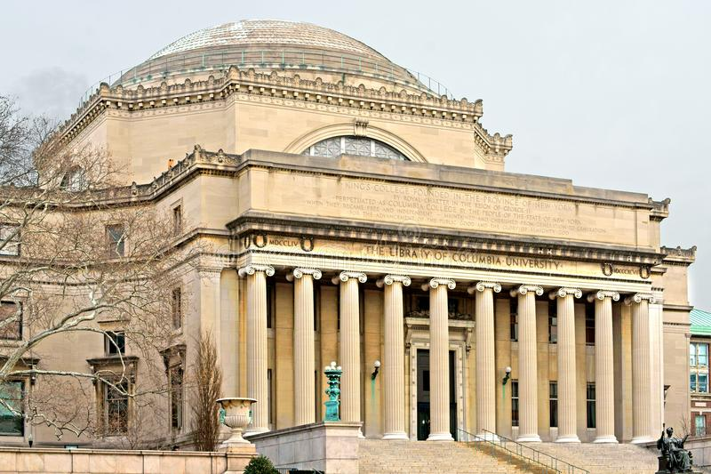 Low Memorial Library of Columbia University was built in 1895 by University President Seth Low as University`s central library stock photos