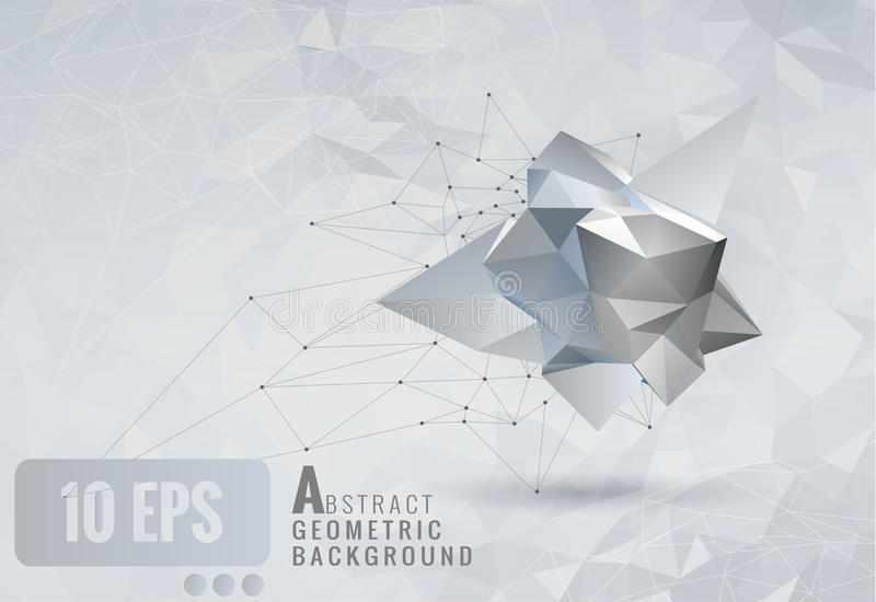 Low Poly Abstract Geometric Shape Template Background Stock Vector ...