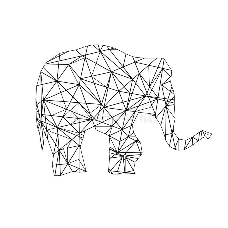 download low poly adult coloring page elephant stock image image of coloring polygonal