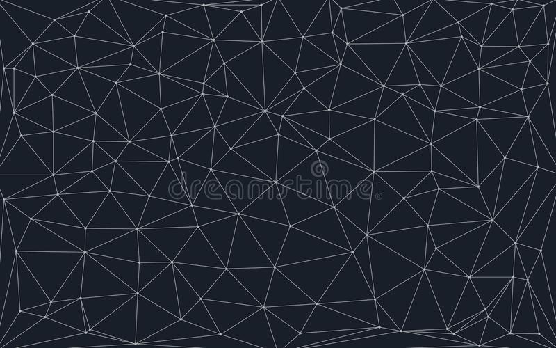 Low poly background with connecting dots and lines vector illustration
