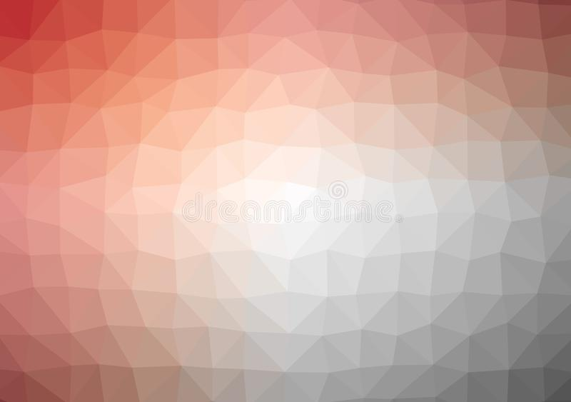 Low poly bright orange yellow colored triangle background color gradient pattern crystal, flat design color illustration royalty free illustration