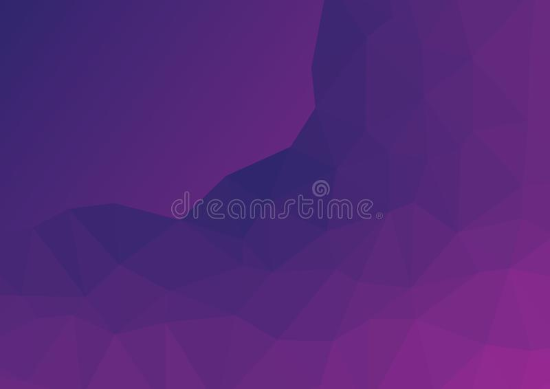 Low poly dark burgundy, purple abstract background. Geometric triangulation rock, mountain. Textured Pattern. Illustration royalty free illustration