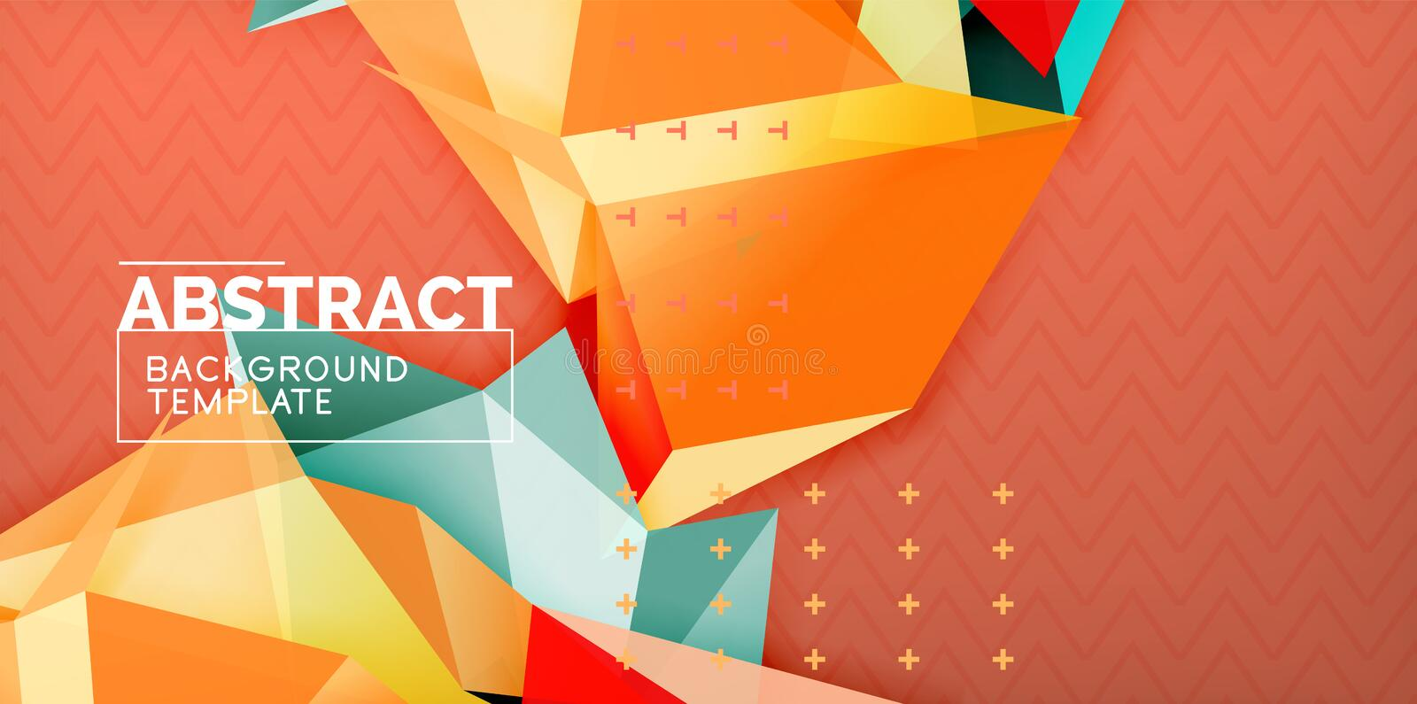 Low poly design 3d triangular shape background, mosaic abstract design template stock illustration