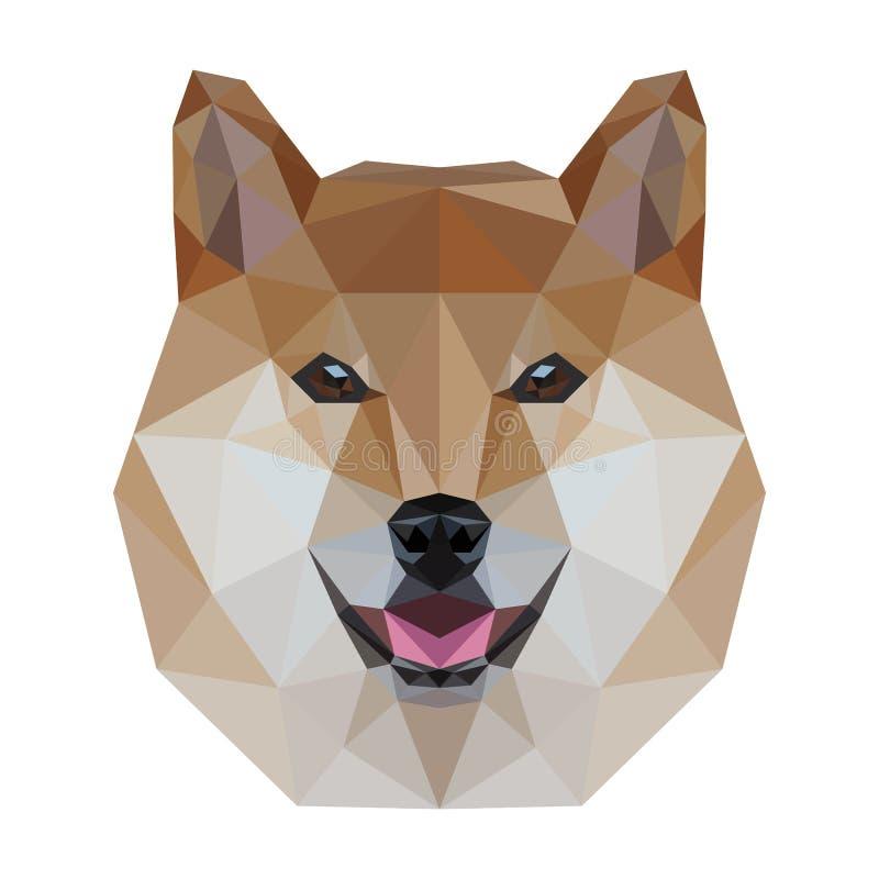 Low Poly Dog. Head design vector illustration