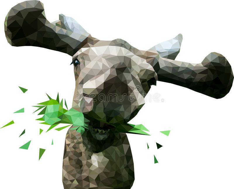 Low poly elk royalty free stock photo