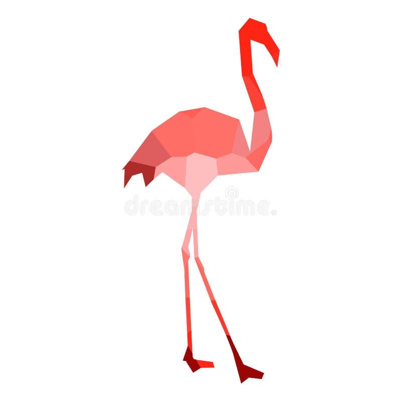 Low poly flamingo royalty free illustration