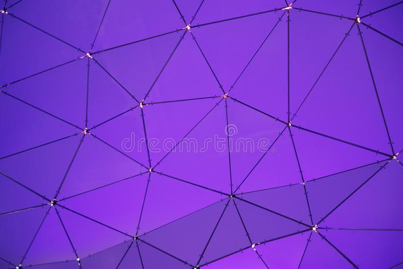 Low poly geometrical background. Connected lines in triangles forming futuristic hexagonal pattern. Empty copy space for Editor`s text stock photo