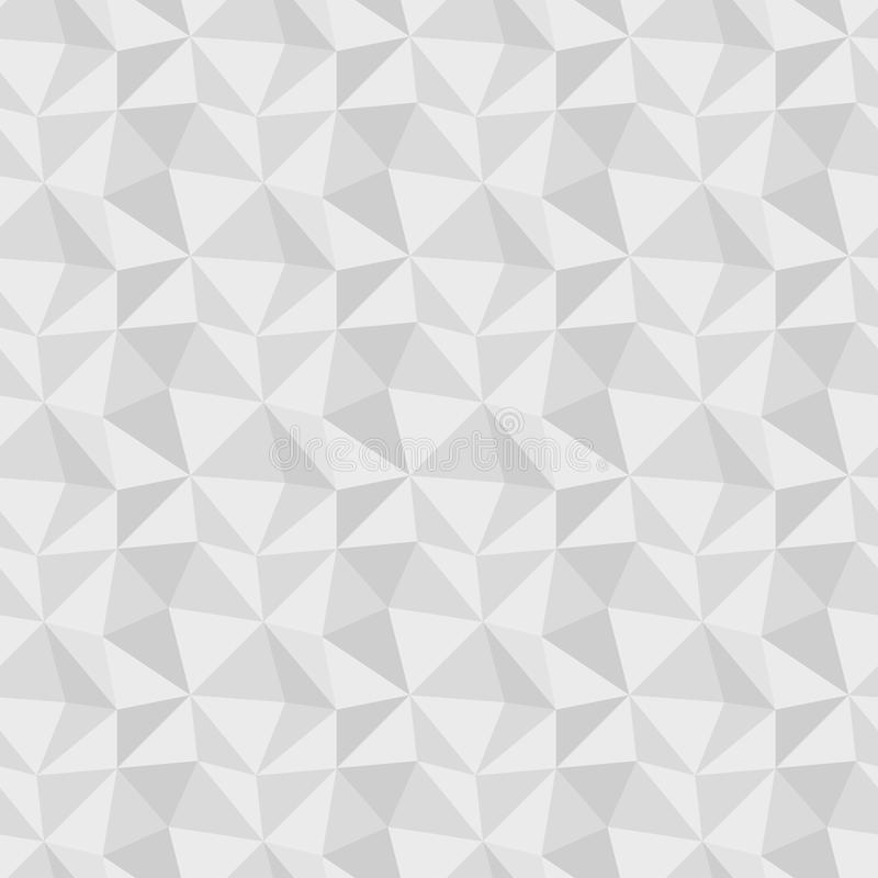 Low poly gray seamless background stock illustration