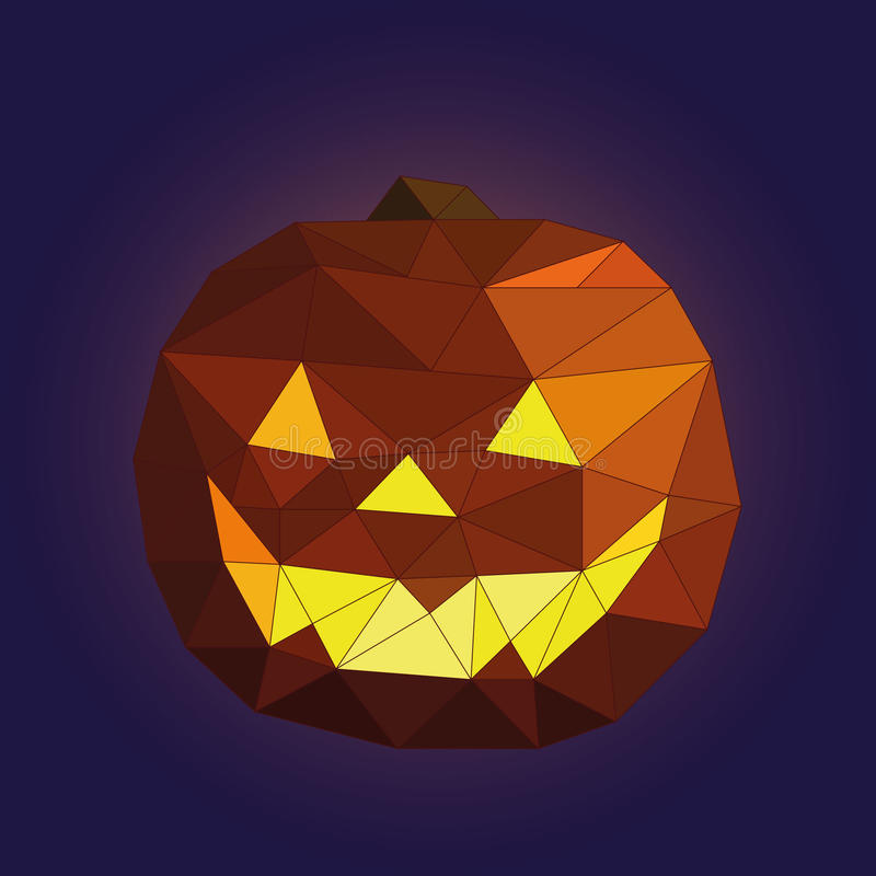 Low poly halloween pumpkin stock photo