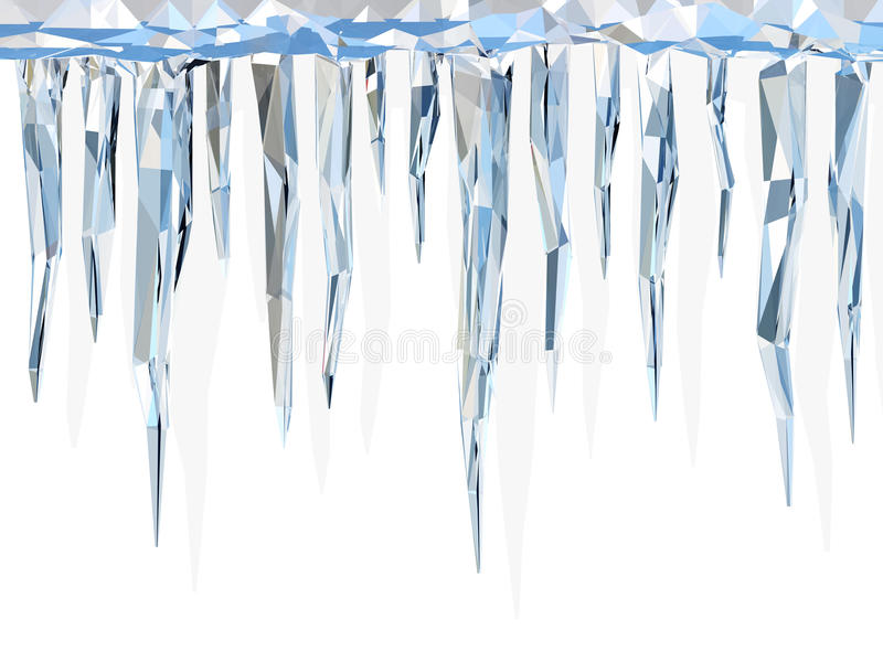 Low poly icicles vector illustration