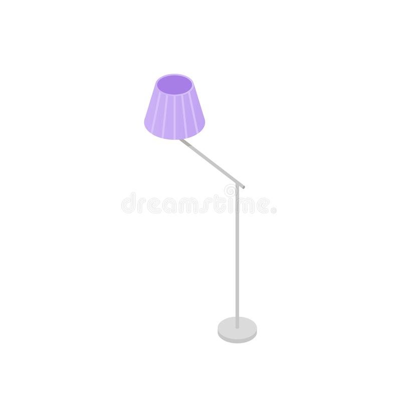 Low poly isometric floor lamp royalty free illustration