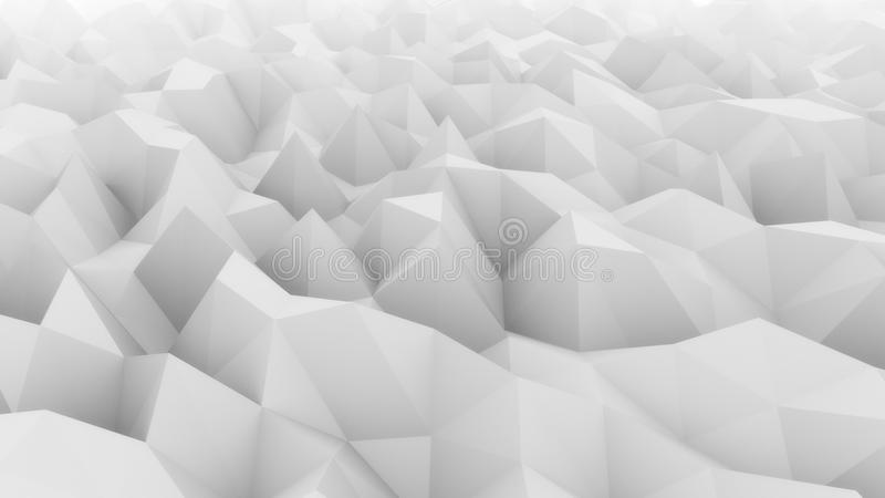 Low poly light gray abstract polygonal modern backdrop for presentations and reports. Ice, snow, coldness concepts. 3D.  royalty free stock photo