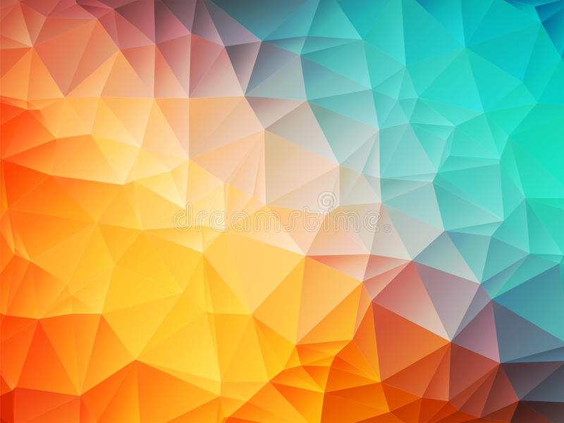 Blue and Orange Geometric Shapes Background Vector |Orange And Blue Vector Background