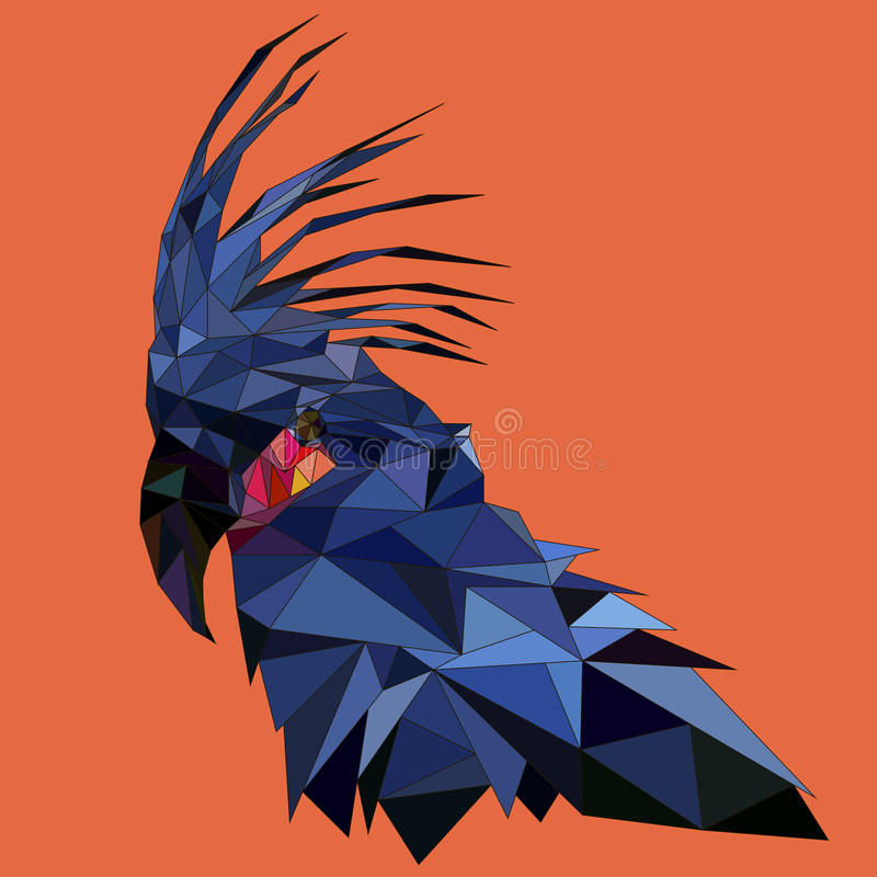 Low poly parrot stock images