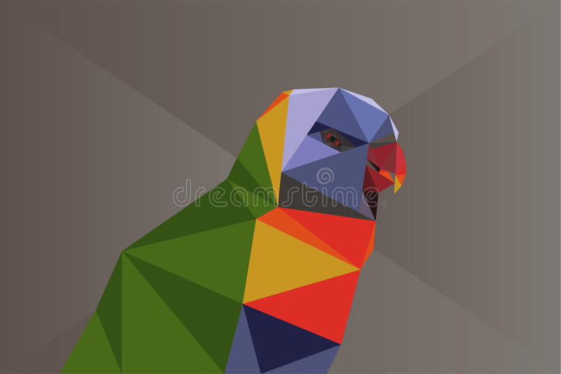 Low poly parrot vector illustration