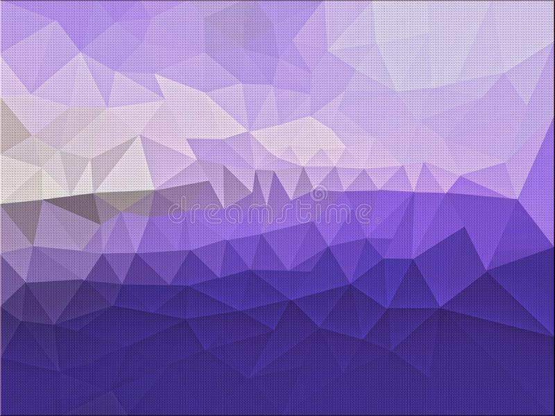 Low poly purple background template. royalty free illustration