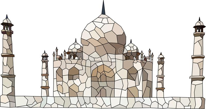 Low Poly Taj Mahal. Low poly vector art of historic monument the Taj Mahal