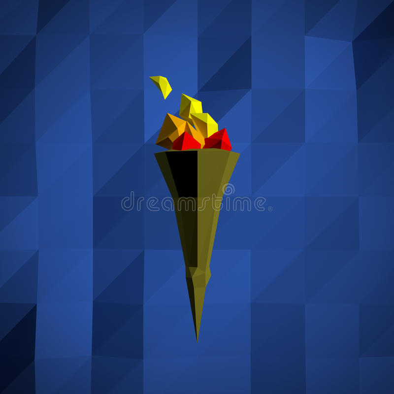 Download Low-poly Torch stock illustration. Illustration of poly - 28438135