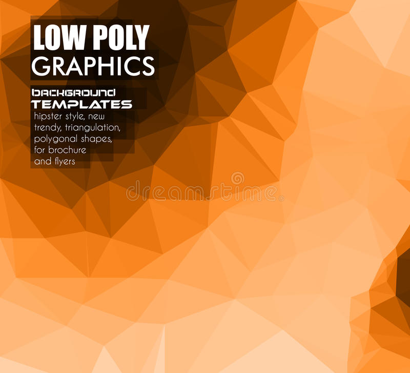 Low Poly trangular trendy hipster background vector illustration