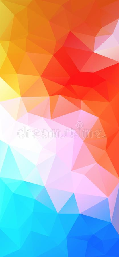 Low poly triangular vertical for web promotion design. stock illustration