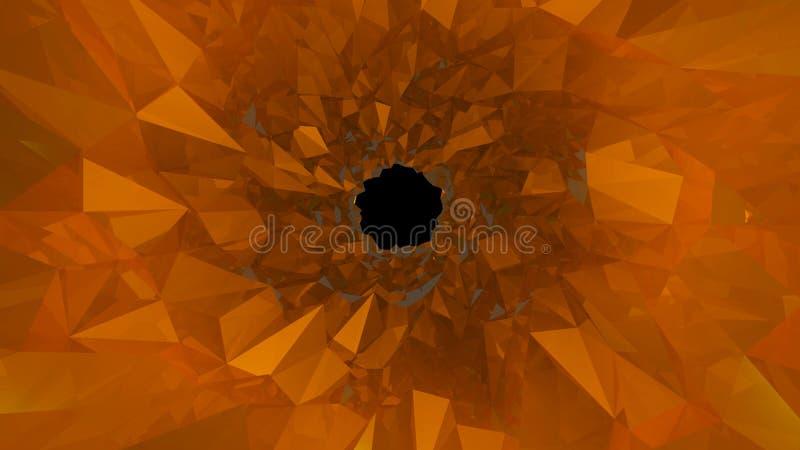 Low poly tunnel. Digital illustration royalty free illustration