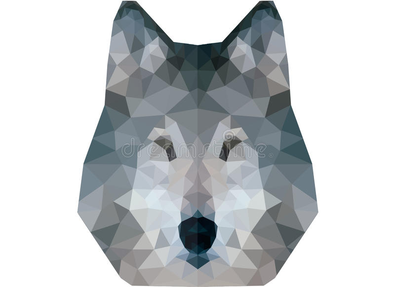Low poly wolf portrait royalty free stock images