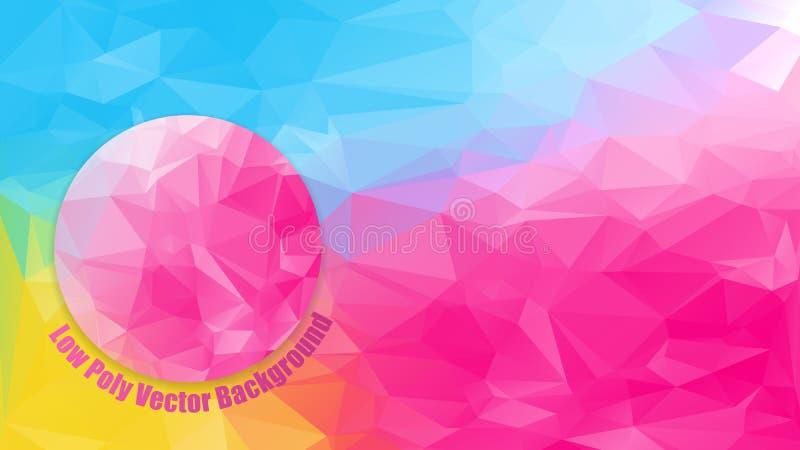 Low polygonal bright color vector illustration