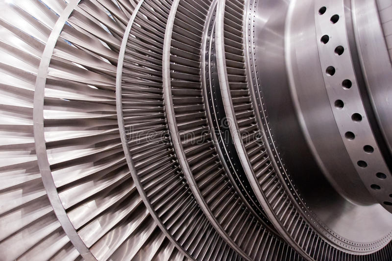 Low pressure steam turbine rotor. For coal-fired power plant royalty free stock photography