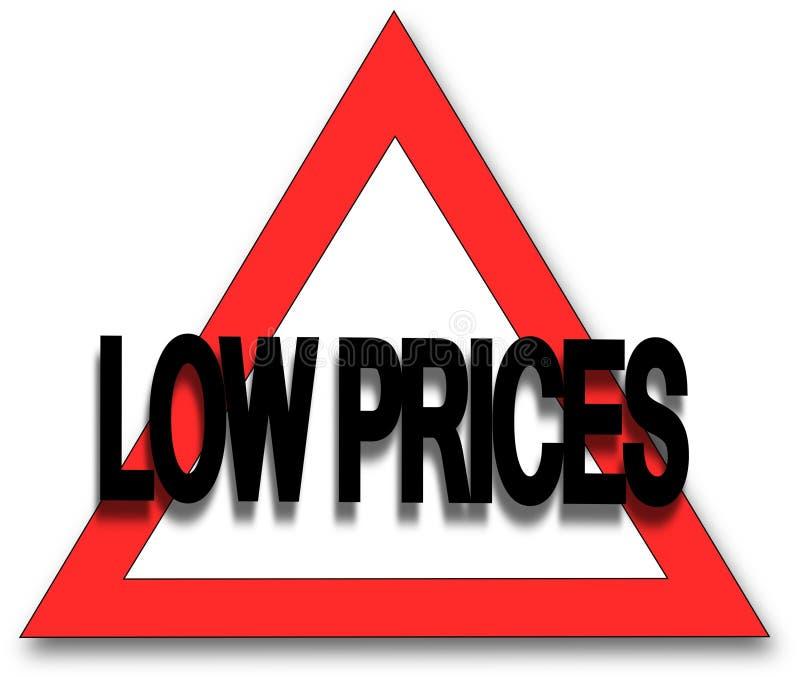 Low prices stock illustration