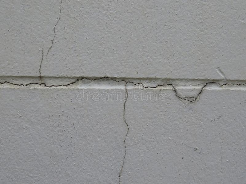 Low-quality cured plaster will easily crack the wall. High quality plastering prevents the wall from cracking easily. - Cause of the quality of the mortar and royalty free stock image