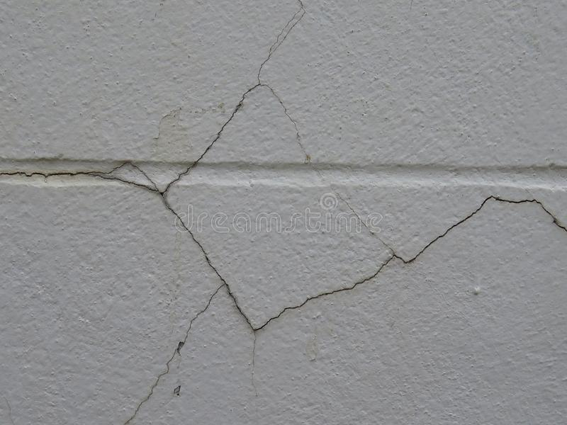 Low-quality cured plaster will easily crack the wall. High quality plastering prevents the wall from cracking easily. - Cause of the quality of the mortar and stock photos