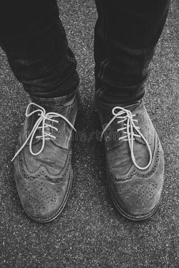 Low Section Of Man Wearing Shoes Free Public Domain Cc0 Image