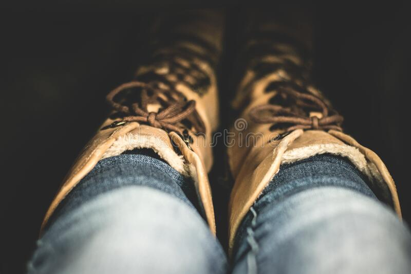 Low Section Of Person Wearing Shoes Free Public Domain Cc0 Image