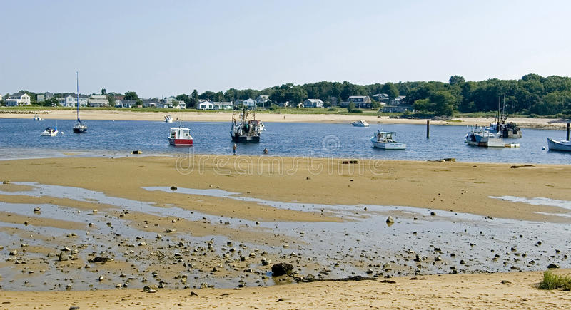 Low tide on the coastline. In Maine, usa stock photo