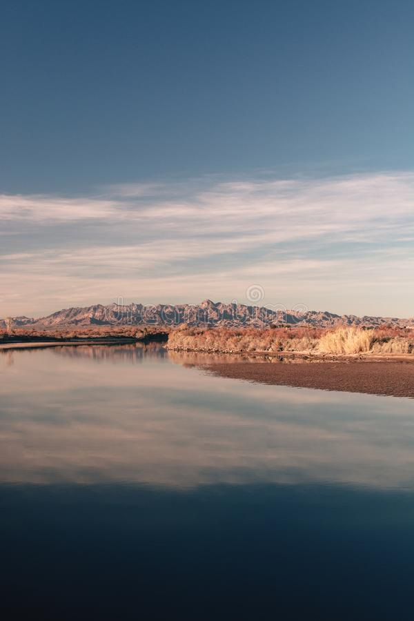 Low tide on the Colorado River. royalty free stock photography