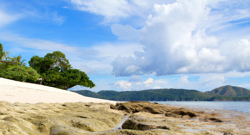 Low tide at Dimakya, Palawan, Philippines. Palawan is the largest provence in the Philippines and is comprised of over 1700 islands. This image was taken in stock photography