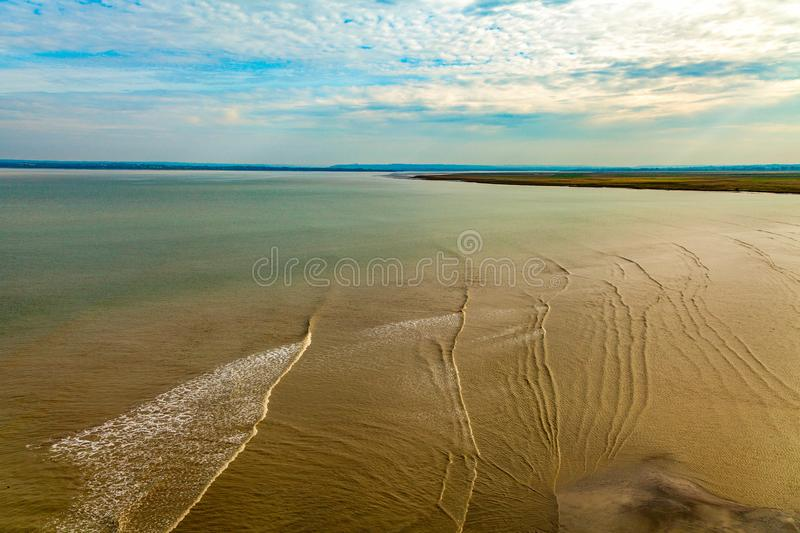 Low tide. On French coast royalty free stock images