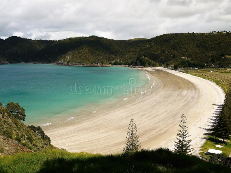 New Zealand: Matauri Bay view stock photo