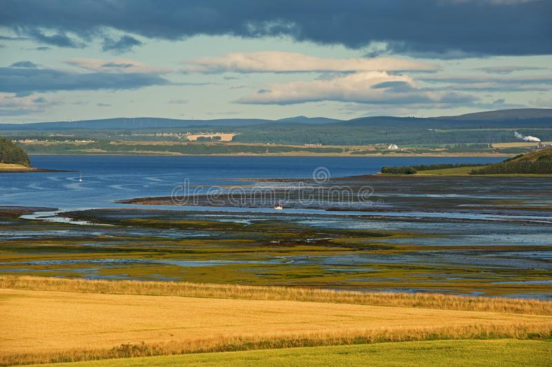 Low tide on a shore of Scotland stock photos