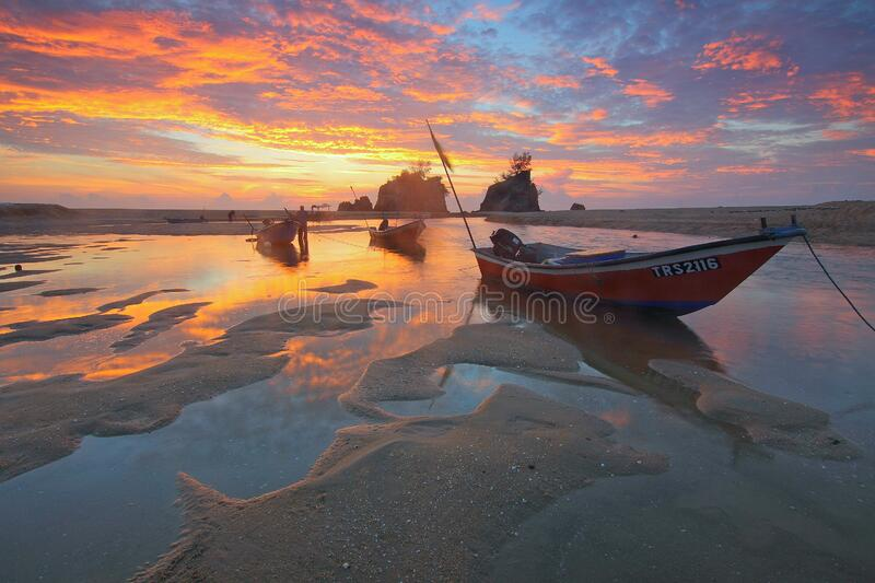 Low Tide during Sunset royalty free stock image