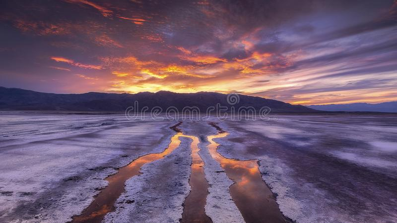 Low Tide At Sunset stock photo