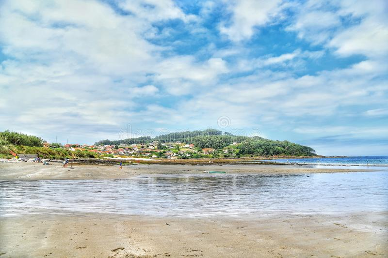 Low tide stock images