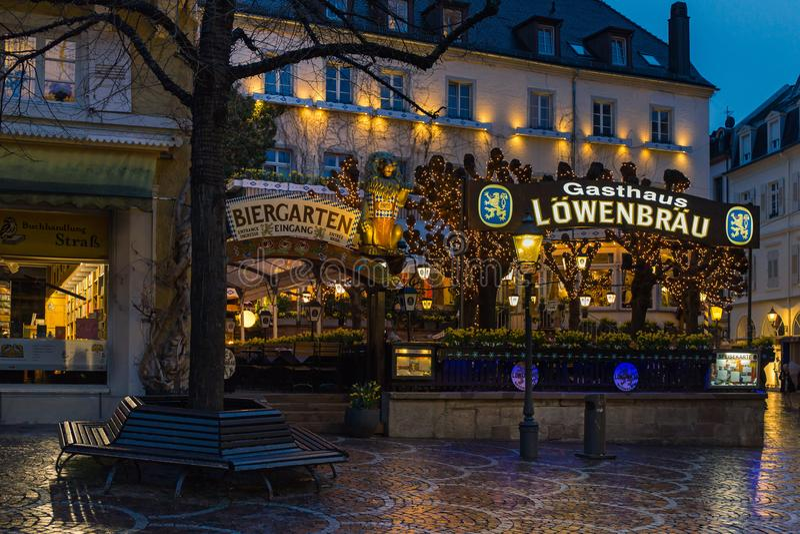 Lowenbrau bar i Baden-Baden royaltyfria bilder