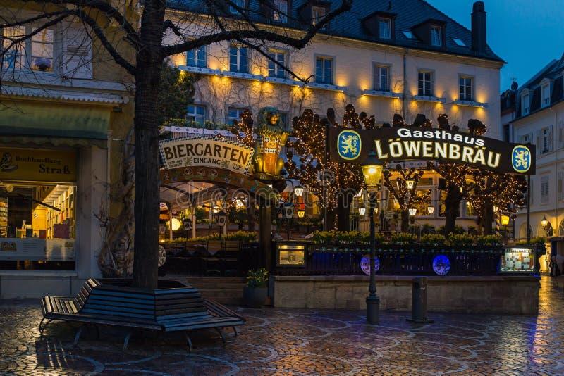 Lowenbraubar in baden-Baden royalty-vrije stock afbeeldingen
