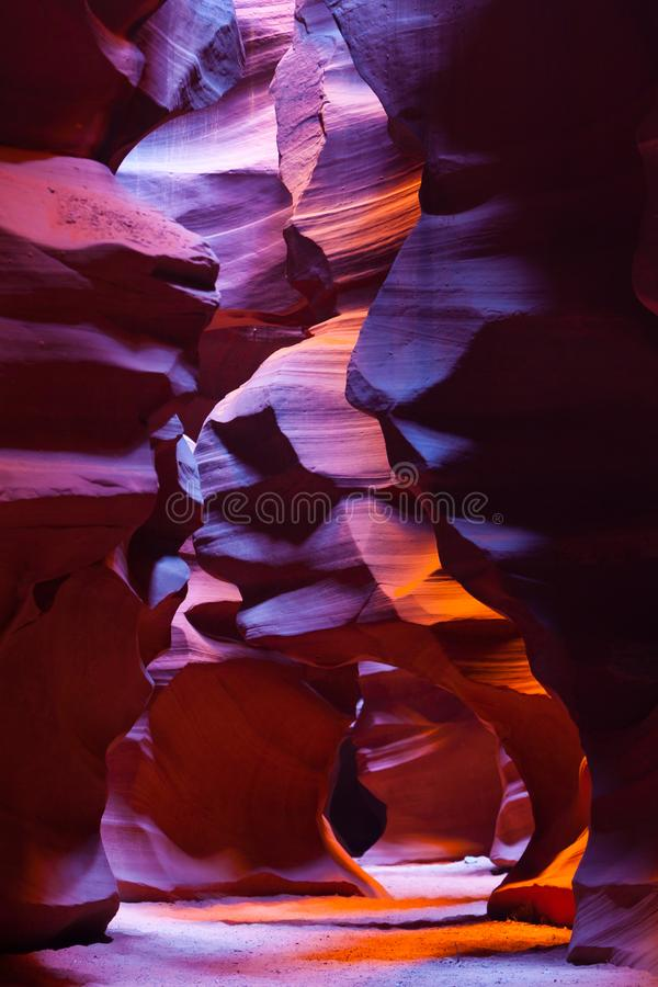Free Lower Antelope Sandstone Beauty. Colorful Red And Orange Sandstone Formations Inside Lower Antelope Canyon, Arizona Stock Photography - 107019982