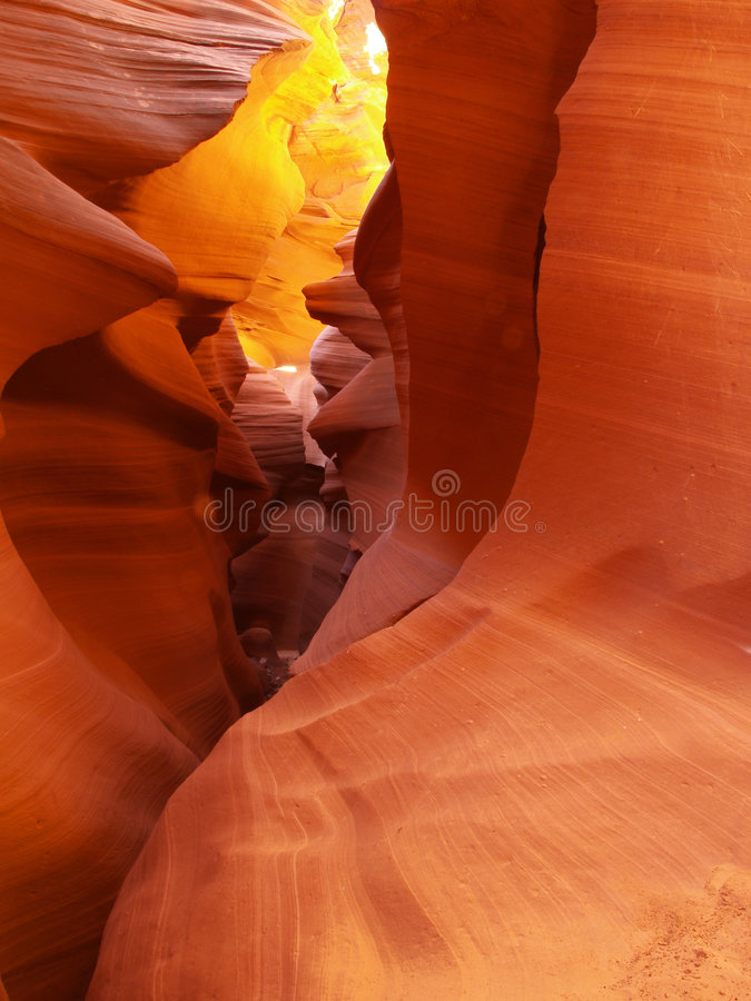 The lower Antelope Slot Canyon near Page in Arizona stock images