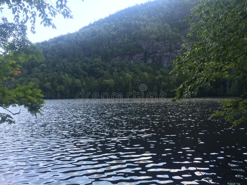 Lower Ausable lake stock image