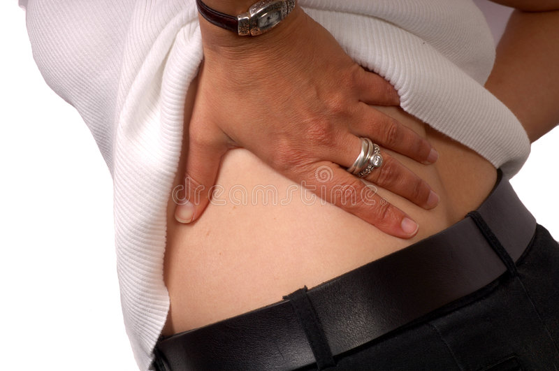 Lower Back Pain royalty free stock photos