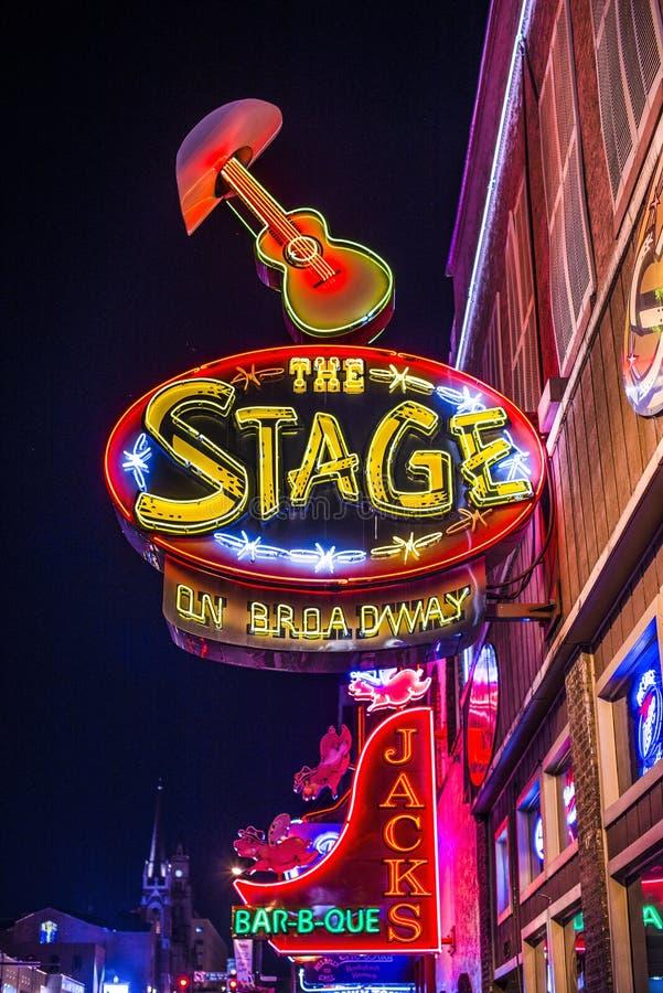 Lower Broadway Nashville stock images