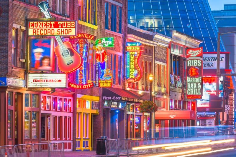 Lower Broadway, Nashville, Tennessee, USA stock image